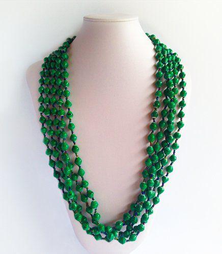 Lulu - Green Paper Beads | Indigo Heart - Fair Trade Fashion A$37.95