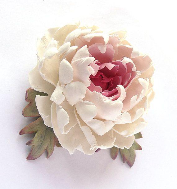 ceramic flower barette