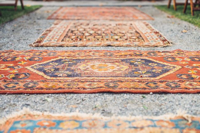 vintage rug aisle runner
