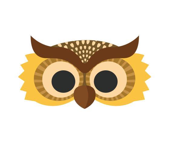 Pinterestu0027teki 25u0027den fazla en iyi Owl mask fikri - face masks templates