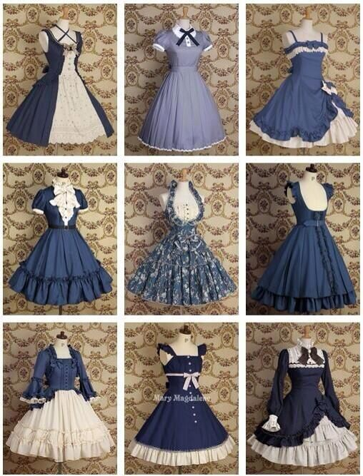 i demand that someone wear these cute lolita dresses