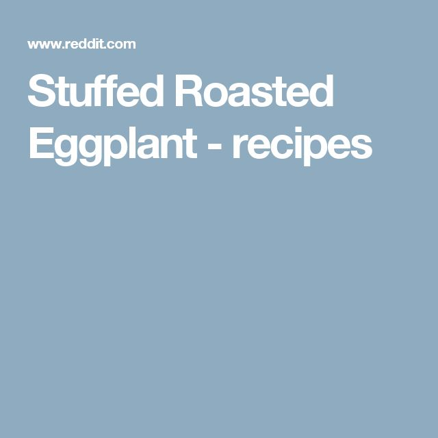 Stuffed Roasted Eggplant - recipes