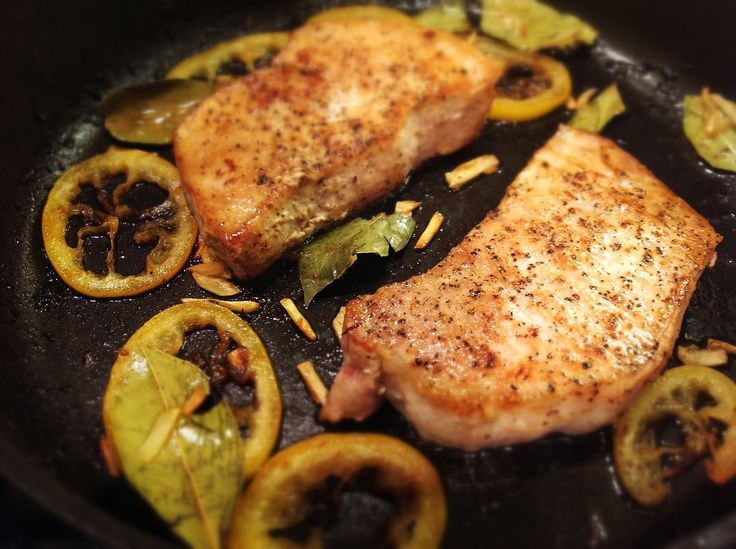 Pan-Seared Pork Chops with Meyer Lemon (Costole di Maiale in Padella) :: Ellie Hickey