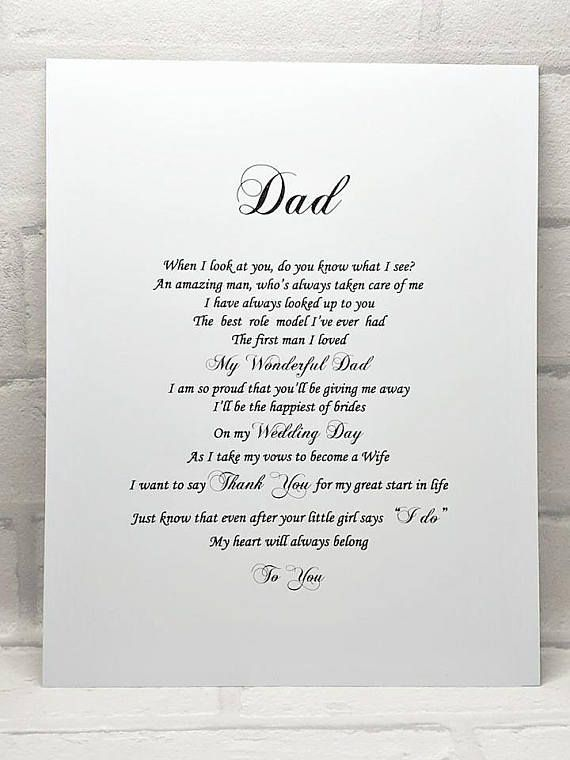 Father Of The Bride Gift From Daughter I Am Based In Uk And Mail Can Take 2 4 Weeks To Reach My Overseas Customers If You Need Poem A Hurry