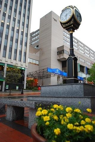 The King Street Clock, commemorating the city's 225th anniversary, in Saint John, New Brunswick, Canada