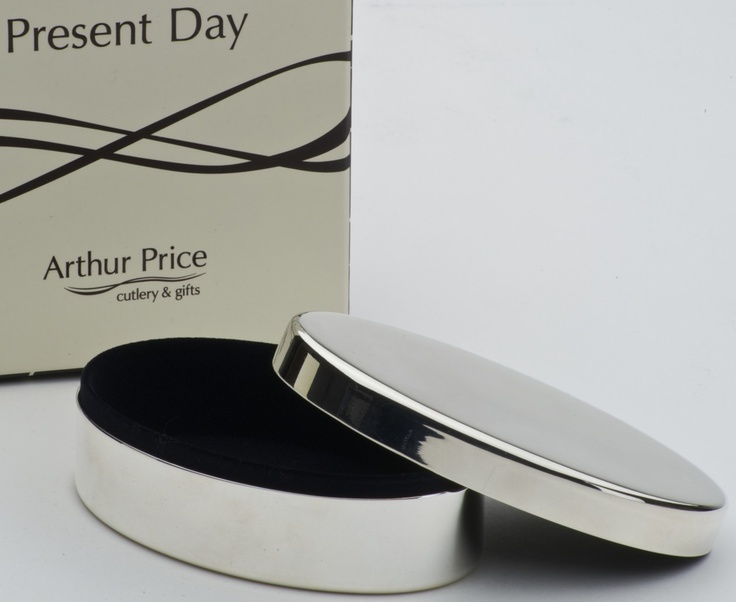 luxury oval jewellery box