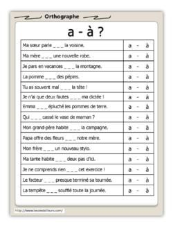 Fiches dautonomie en orthographe - Lécole dAilleurs