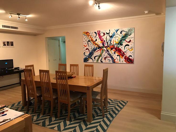 Large Carnivale Abstract Artwork Installation By Artist Glenn Farquhar Size 200cm X 120cm
