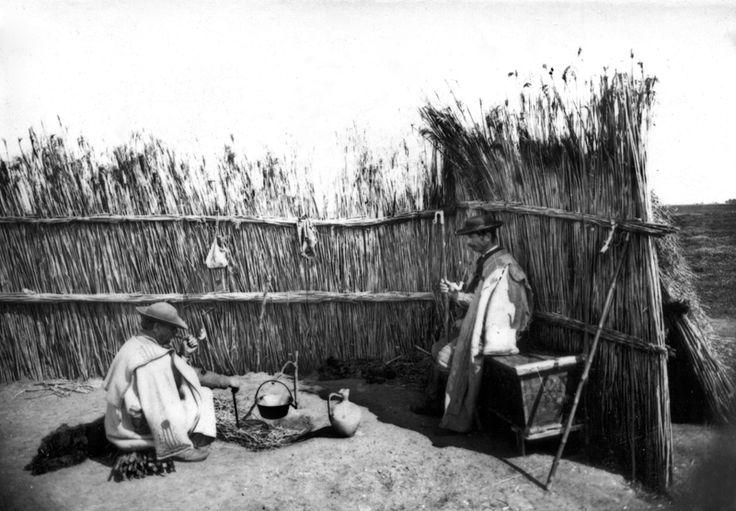 Négyszárnyú főzőkarám, kunyhóval. 1903.