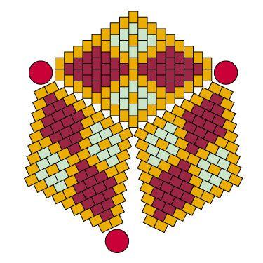 Ressources Créer des boucles d'oreilles triangles 3D en tissage peyote avec des Miyuki et Swarovski