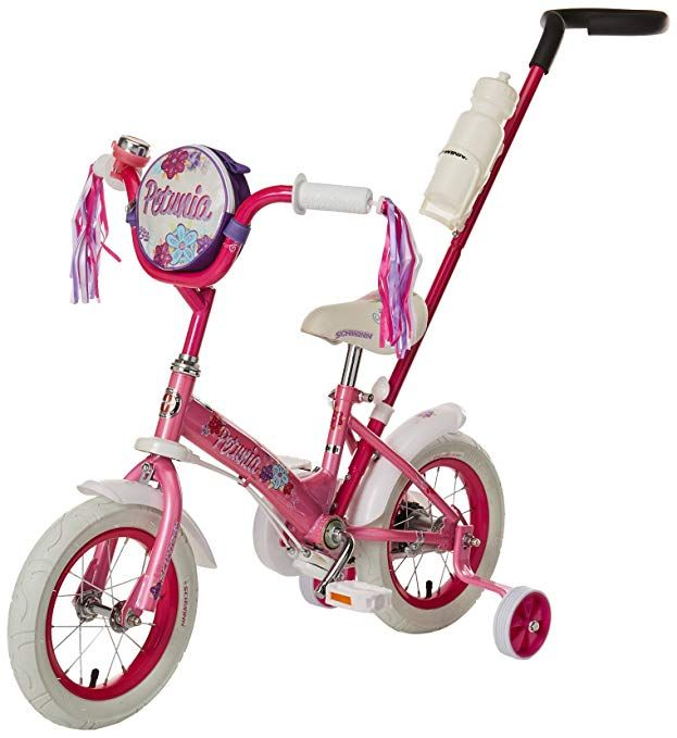 Schwinn Girls Petunia 12 Inch Steerable Bike Pink White Review Kids Bike Schwinn Childrens Bicycle
