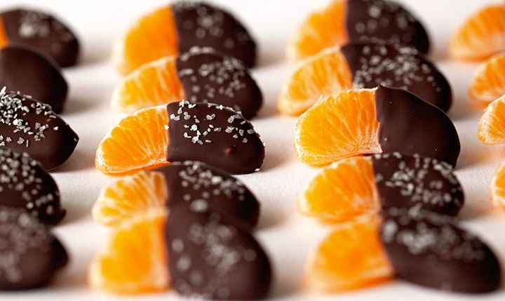 Salted Chocolate Dipped Mandarin Orange Slices - Mon Cheri Bridals