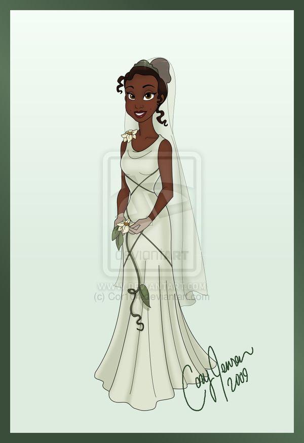 159 best disney brides images on pinterest disney magic for Princess tiana wedding dress