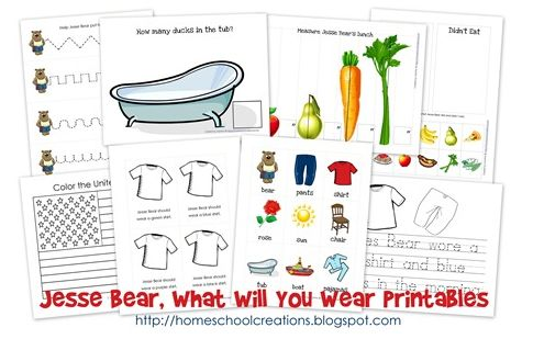 Jesse Bear Early Learning Printable Pack
