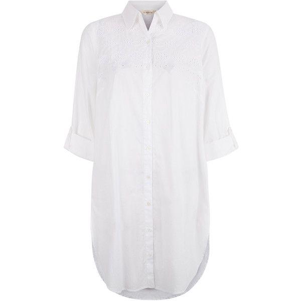 Monsoon Mila Cutwork Shirt Beach Dress found on Polyvore