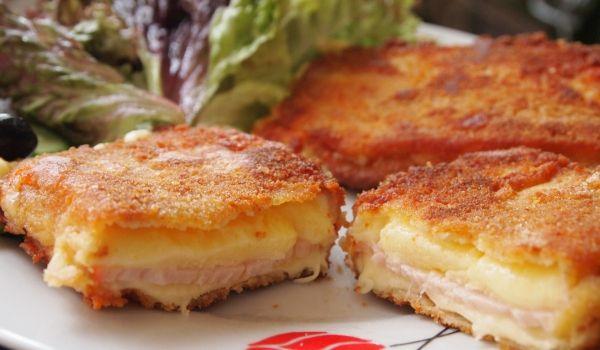 Кашкавал пане с шунка - Рецепта за Кашкавал пане с шунка