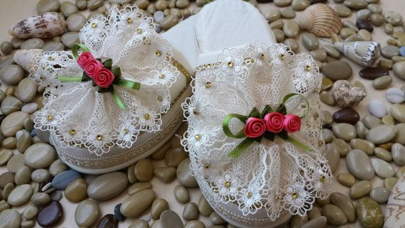 Brides Honeymoon Slippers Lingerie and Groom Handmade by LAMEDORE