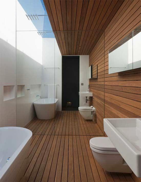 Туалет в цветах: черный, серый, белый, коричневый. Туалет в стиле экологический стиль.
