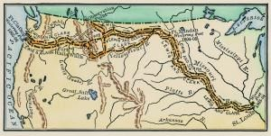 Map of the Lewis & Clark Expedition. - (Photo by Stock Montage/Getty Images)