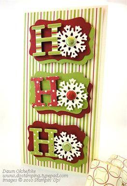 HoHo with snowflake  #craft #christmas