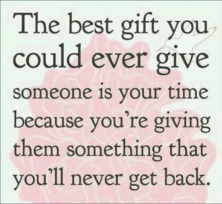 The gift of time is priceless. #volunteer