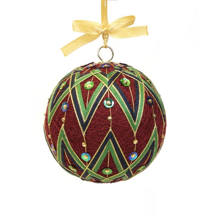 Handmade ornament inspired on Japanese art temari by JoeyART - CLASSIC ELLEGANCE