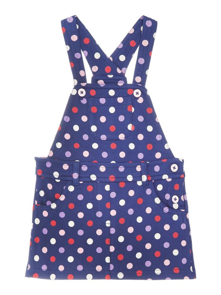Benneton Baby Dungaree Dress Blue Spotty - http://tidd.ly/87031f97