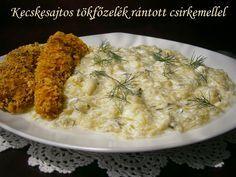 Hankka: Kecskesajtos tökfőzelék rántott csirkemellel