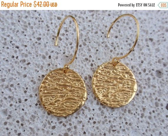 SALE 10% OFF sterling silver drop earrings disc by preciousjd