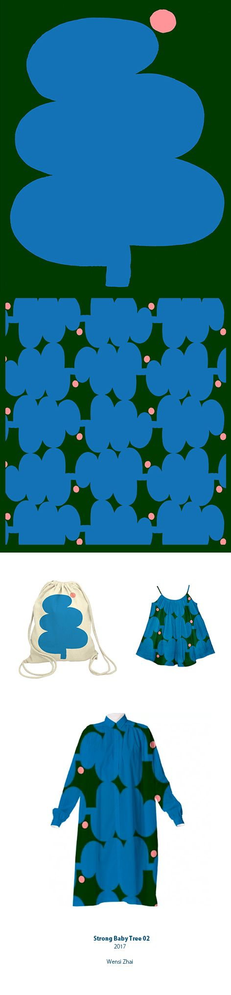 Wensi Zhai _ Strong Baby Tree 2 _ Illustration and Pattern design
