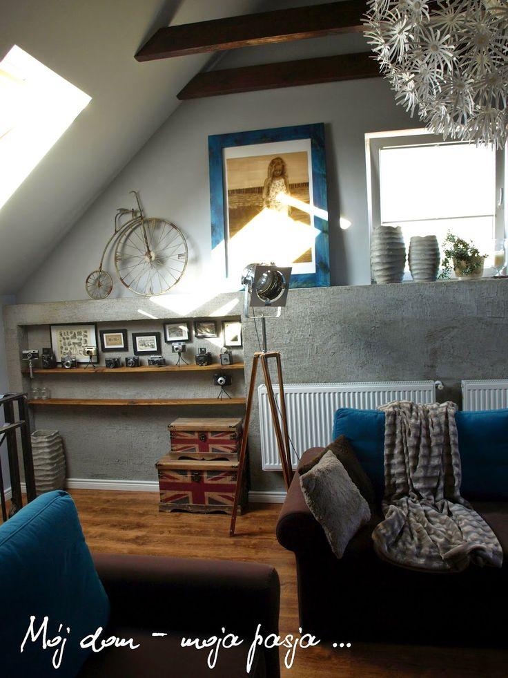 Rest room, salon, sitting room, industrial, loft, tripod, decor,