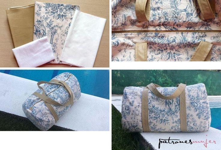 Hazte tu propio modelo de bolsa de tela para viajar con los pasos que nos muestra PATRONES MUJER.