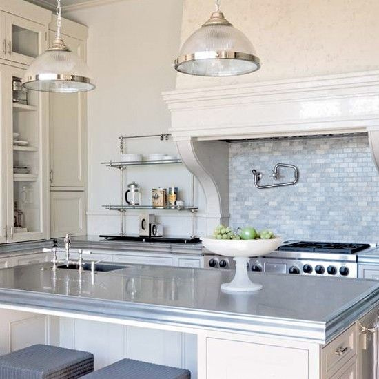 Classic neutral kitchen | Kitchen ideas | Kitchen island | Image | housetohome.co.uk