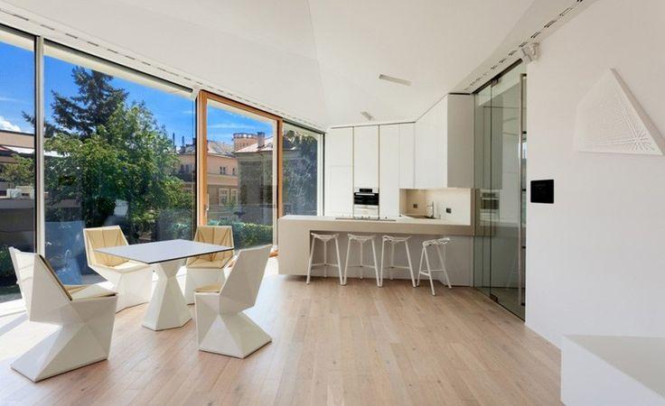 Küche und Essbereich der Home Spa Verlängerung Entspannung und Verjüngung Attraktor durch architekti.sk