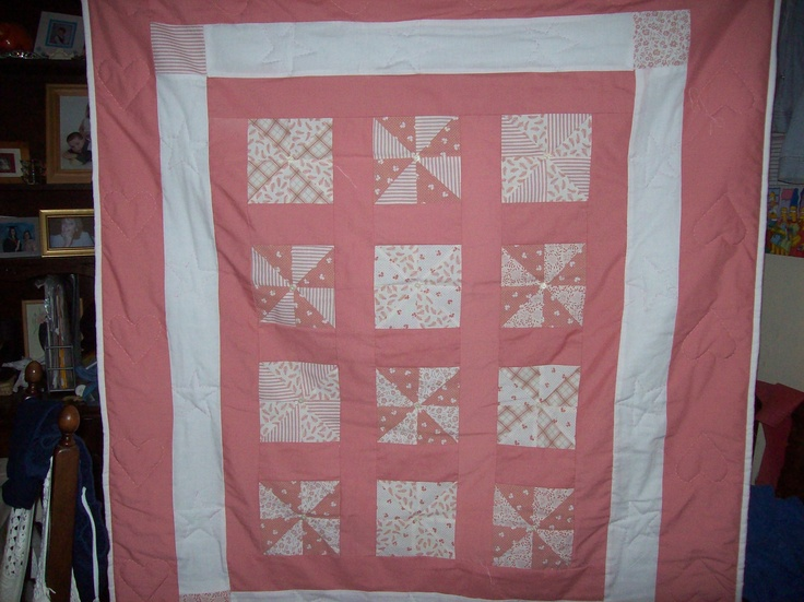 Patchwork Quilt, finished with hand embroidery.  Please take a look at the items I sell @ www.lemayed-for-you.webs.com, thanks.