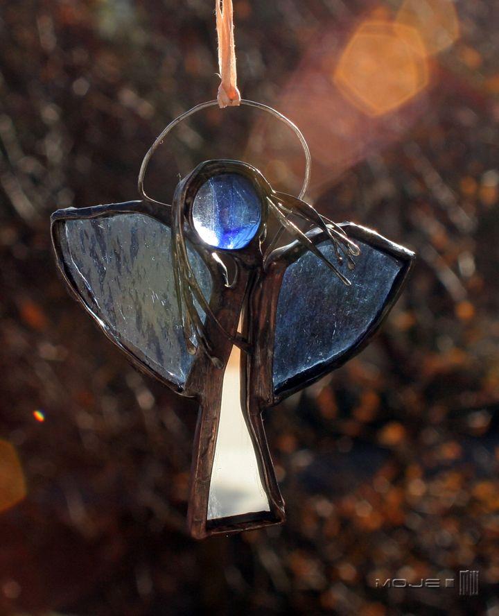 Anioł / Angel. Witraż Tiffany. Glass. Glass Angel. Moje MW