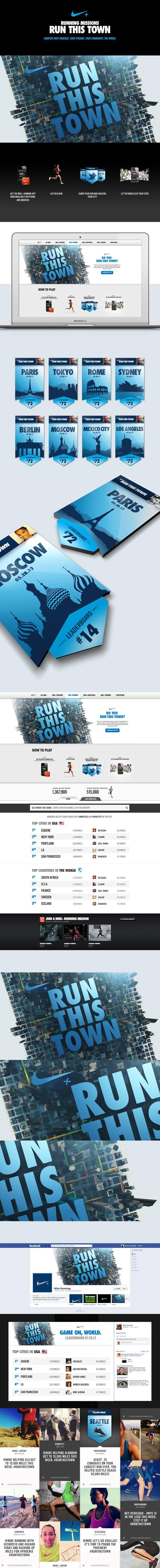 Nike+ Run This Town // on Behance // by Rasmus Wangelin & Adam Boyette https://www.behance.net/gallery/Nike-Run-This-Town/4954597
