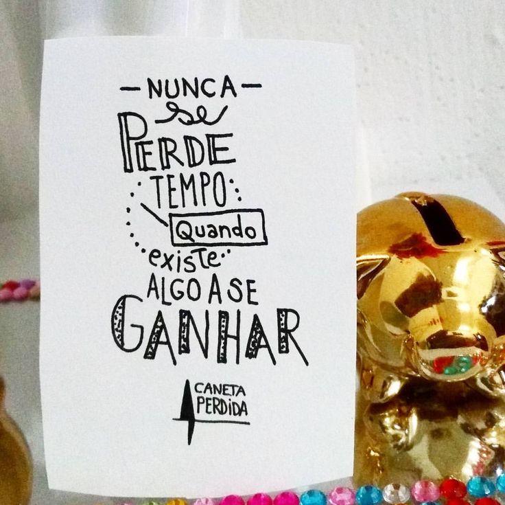 Nunca se perde tempo quando existe algo a se ganhar. #CanetaPerdida #HeytorNeco