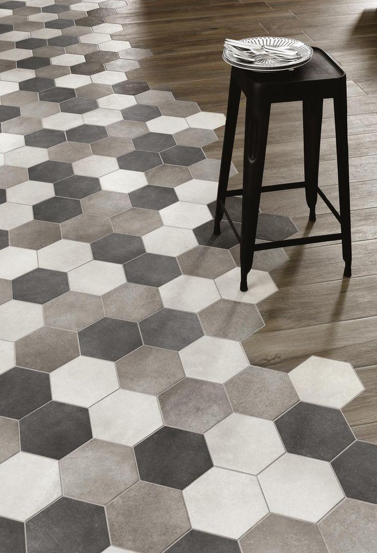 """Ceramic """"Wood"""" floors with gorgeous edge... Rewind: Ceramic tiles - Ragno_6124"""