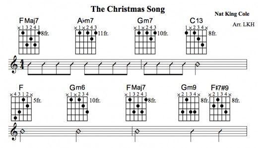 The Christmas Song Guitar Chords u2022 Chord Melody, Tab, Video Lessons u2022 Nat King Cole : Jazz ...