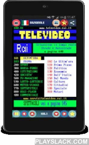 Teletext International FREE  Android App - playslack.com , Watch the teletext in oldskool style as on TV with Teletext International the wide choice from you can choose and the new material design ensures the best user experience to show teletext from all over the Europe with a click such as teletext RAI, SRF, eurosport, nickelodeon, BBC, ORF,Premier Kladionica and many others.Swipe Navigation gestures:- SWIPE DOWN : to load the next sub page (100.01-> 100.02)- SWIPE RIGHT :to load the…