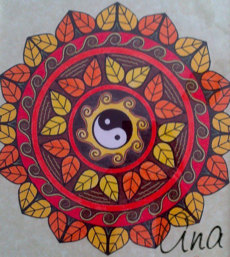 Mandala pintado a mano.