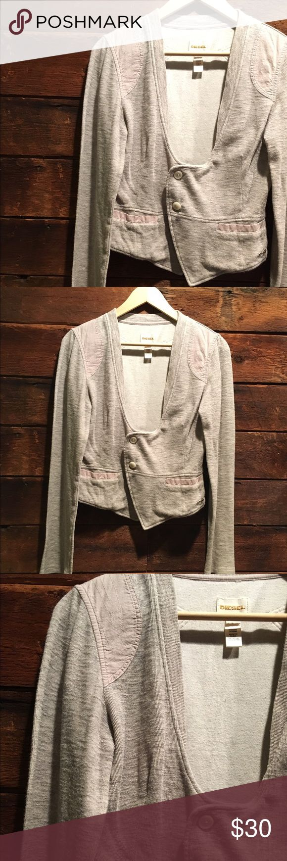 🆕 Lightweight Blazer/Jacket by Diesel The perfect gray jacket to throw over any outfit. In very good, slightly used condition. Sweatshirt- like material. Diesel Jackets & Coats Blazers
