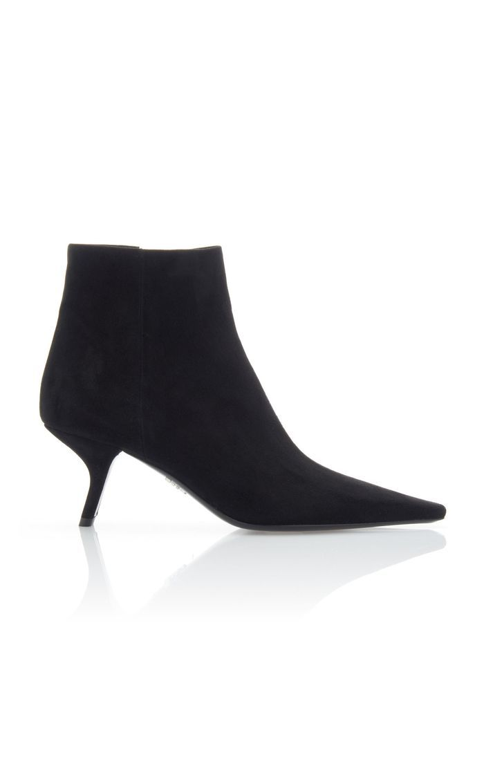 Prada Suede Ankle Boots Suede Ankle Boots Boots Kitten Heels