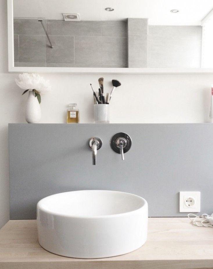 Gray White Bathroom   Remodelista