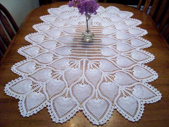 Pineapple Table Topper/Centerpiece by AngpangeCrochets on Etsy, $55.00
