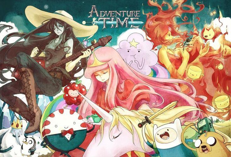 adventure time,время приключений,фэндомы,art,арт,красивые картинки,Finn,Финн - парнишка, Финн, Финн парнишка,Jake,Джейк - Пес, джейк,Princess Bubblegum,Бубльгум - Принцесса конфетного королевства, бубльгум, принцесса бубльгум,Lady Rainicorn,Леди Ливнерог,Lumpy Space Princess,Flame Princess,Огненная