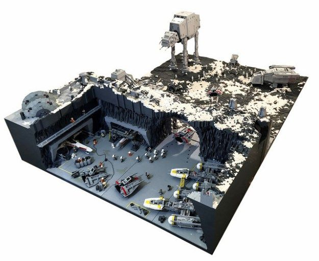 Battle on Rhen Var from Star Wars: Battlefront recreated with 250,000 LEGO bricks | The Brothers Brick