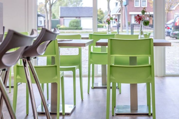 Sai chairs and Diablito h.80-h.65  by SCAB Design for FitPlaza in Stadskanaal, Netherlands.