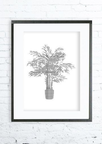 Potted Palm Tree Palm Tree print ArtPalm Tree Palm by DeziDezi